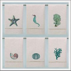 I may have to cave and spend the small fortune on these - they're fabulous. Coastal beach hand towels