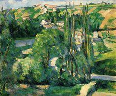 La Cote du Galet, at Pontoise ,by Paul Cezanne