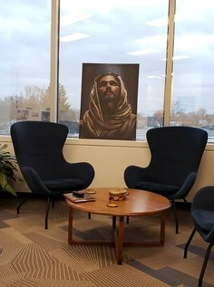 "This work of art by Cecil ""CREED"" Reed Jr. sits in the office of the General Council Office of The United Church of Canada! #canada #blackart #blackjesus #church..."