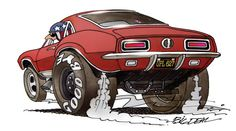 Drag is mustang Cartoon Car Drawing, Cartoon Pics, Cartoon Art, Weird Cars, Cool Cars, Caricature, Cool Car Drawings, Monster Car, Truck Art