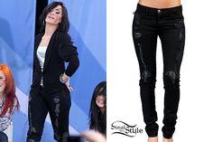 Rock & Republic 'Crazy' Ultra Skinny Stretch Jeans (Taint Black Wash) – $229.90