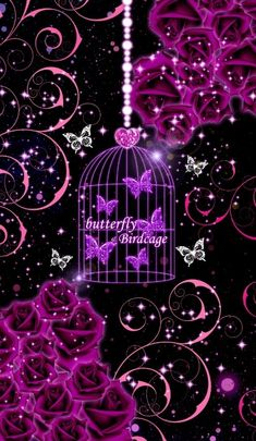 Butterfly's in a Birdcage. Dragonfly Wallpaper, Sparkle Wallpaper, Flower Iphone Wallpaper, Pretty Phone Wallpaper, Heart Wallpaper, Cellphone Wallpaper, Pretty Wallpapers, Galaxy Wallpaper, Wallpaper Backgrounds