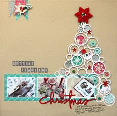 #papercraft #Scrapbook #layout   Love the circles to make a tree... cute! Two Peas in a Bucket