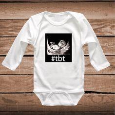 9939ea929 TBT Clever Baby Onesies, Bibs or Tees _ TBT Tee _ Throw Back Thursday Shirt
