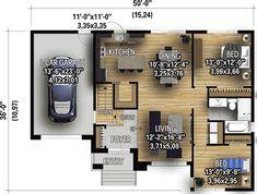 Contemporary 2-Bed Split-Level House Plan - 80932PM   Architectural Designs - House Plans Luz Natural, Natural Light, Split Level House Plans, Small House Plans, Vertical Siding, 2 Bedroom House Plans, Apartment Plans, Minimalist Living, House Front