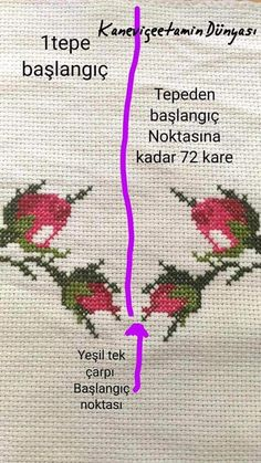 Cross Stitch Rose, Cross Stitch Flowers, Cross Stitch Patterns, Embroidery Stitches, Hand Embroidery, Bargello, Diy And Crafts, Weaving, Knitting
