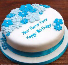 Happy Birthday Cake with Name Edit Online Free