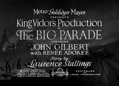 The Big Parade (1925) Blu-ray movie title