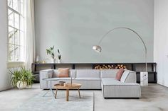 Gray corner sofa of the new Dutch brand: By SIDDE Decor, Furniture, Home Living Room, Interior, Home, Sofa, Grey Corner Sofa, Beautiful Living Rooms, Home And Living
