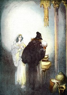 """Art by Willy Pogany (1912) from the book PARSIFAL - """"Kundry."""""""