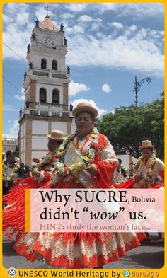 "Our guidebook states ""Sucre is Bolivia's most beautiful city"". This historic city is full of white painted ornate colonial buildings, many with enclosed wooden balconies jutting out over the footpath. Whilst it had many nice aspects to it, Sucre didn't really ""wow"" us. Read our short post and find out why. More South America travel tips on dare2go.com! #sucre #bolivia #WorldHeritage #colonial #traveltip #SouthAmerica #dare2go"