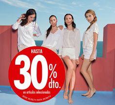 Hasta un 30% de descuentos en una selección de zapatos y boslos primavera verano 2014