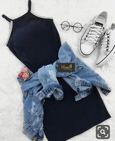 Outfits como chamarra de mezclilla…👗👑 - Oven Tutorial and Ideas Cute Casual Outfits, Swag Outfits, Cute Summer Outfits, Mode Outfits, Pretty Outfits, Stylish Outfits, Casual Summer, Shop This Look Outfits, Summer Dresses