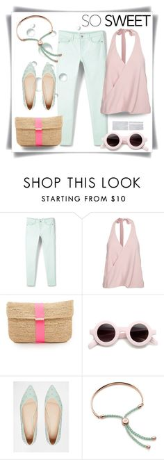 """""""Ice cream colors"""" by maytal-gazit ❤ liked on Polyvore featuring MANGO, Hat Attack, ASOS and Monica Vinader"""