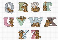 Garfield alphabet chart 3