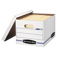 Bankers Box Stor/File Storage Box with Lift-off Lid, Letter/Legal, 12 x 10 x15 Inches, 4/Carton,