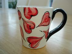 super easy to paint...really! #pottery #mugs