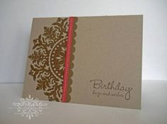 Medallion Card and Hugs & Wishes - Stampin' Up