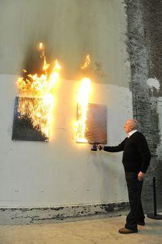 Bernard Aubertin- Tableau Feu (2012)