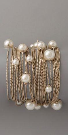 Juliet & Company. Runway Multi Strand Pearl Bracelet.