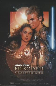 Star Wars Episode II Attack of the Clones Cast Art Movie Poster 24x36