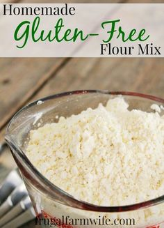 Gluten-Free Flour Mix Recipe This is by far the best homemade Gluten-Free Flour Mix Recipe I've ever used! We do everything from pancakes to bread with it, and it's SO MUCH cheaper than buying pre-mixed flour!