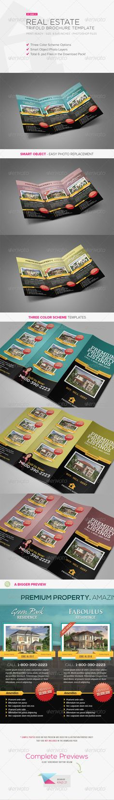 Real Estate Trifold Brochure Brochures, Brochure template and - real estate brochure template