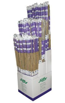 Bamboo  by Jiffy  All natural bamboo stakes to be used for the support of your plants. Comes in 3ft, 4ft, 5ft, and 6ft lengths.