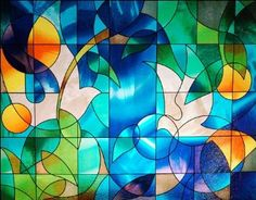 Doves Stained Glass Window Film