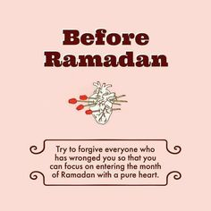 Keep doing it everyday. Not just for Ramdhan.