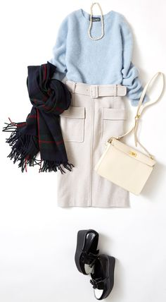 Week's Lesson: Coordination on New Year's and New Year's Parties (Lumine Ikebukuro) Office Fashion, Work Fashion, Skirt Fashion, Fashion Outfits, Womens Fashion, Fashion Trends, Fashion Fashion, Winter Outfits Women, Fall Outfits