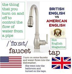 English Turn, British English, American English, English Magazine, Ingles Online, Water Flow