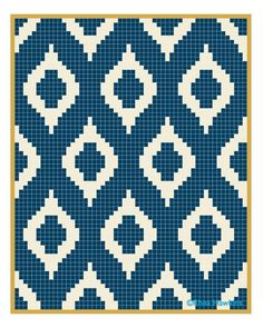 Instead of many little squares, I might see about calculating rows with varied sizes of colors.Vintage Crochet Chicken Patterns The Cutest CollectionSimple grid pattern using 2 colors. Modern Quilt and Tapestry Crochet inspiration.Crochet Patterns B Filet Crochet, Crochet Motifs, Crochet Chart, Diy Crochet, Beaded Crochet, Vintage Crochet, Knitting Charts, Knitting Stitches, Knitting Patterns