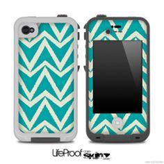 Bleeding Green V4 Chevron Pattern Skin for the iPhone 5 or 4/4s LifeProof Case