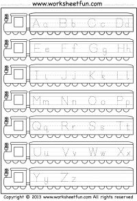Free Printable Capital and Small Letter Tracing Worksheet                                                                                                                                                     More