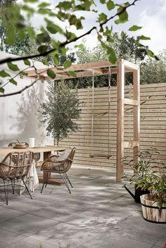 Diy Pergola, Pergola With Roof, Wooden Pergola, Backyard Pergola, Pergola Kits, Patio Stone, Flagstone Patio, Deck Patio, Concrete Patio