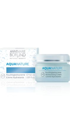 AQUANATURE 24h Moisturising Cream This delicate cream is specially formulated for dry, mature skin. The intensive moisturising complex of an innovative botanical hyaluronic acid, bulrush cells and marine plant extracts hydrates the skin and improves its natural ability to regenerate itself. Precious plant oils reduce the appearance of dry lines.