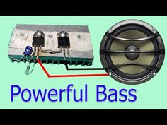 Hello friends In this video i made a Powerfull Audio Amplifier Using 2 Transistor This transistors are which i was extracted from old Computer atx PS. Audio Design, Speaker Design, Diy Speakers, Old Computers, Audio Amplifier, Circuit Projects, Car Audio, Fantasy Art, Acting