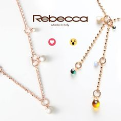 Pearls or stones? Choose your favourite My Style jewel!  #RebeccaChallenge #rebeccajewels #madeinitaly