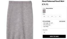 Banana Republic SS17 pencil skirt