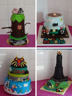 Le mariage d'Estelle sur le thème geek | Mademoiselle Dentelle Les Themes, Mademoiselle, Children, Cake, Lace, Young Children, Boys, Food Cakes, Child