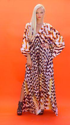 Lotta Stensson Kaftan Dress with belt! #lottastensson #lottanyc #fashion #beachwear #resortwear #lottalove