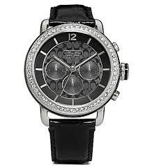 Coach LEGACY SPORT Black Leather STRAP Watch for Women 14501654 - http://fashion.designerjewelrygalleria.com/watches/coach-legacy-sport-black-leather-strap-watch-for-women-14501654/