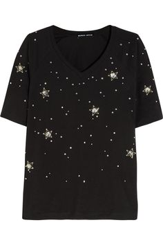 MARKUS LUPFER Constellation Stars embellished cotton-jersey T-shirt $300.00 https://www.net-a-porter.com/products/647989