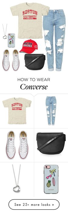 """""""Untitled #160"""" by findthefinerthings on Polyvore featuring Top of the World, Topshop, Converse, Elsa Peretti and Rebecca Minkoff"""