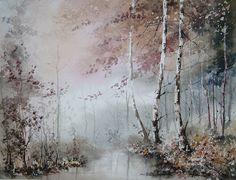 AKWARELA A3 obraz pejzaż - JESIENNA MGŁA (5803743082) - Allegro.pl - Więcej niż aukcje.