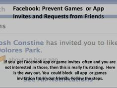 Facebook: How to Block Frineds from Sending app and game invitation This was the only way that I could block on a iPhone