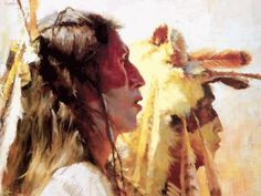 Proud-Men - Howard-Terpning Love the coloring. Native American Girls, Native American Pictures, American Indian Art, Native American Paintings, Indian Paintings, American Artists, Howard Terpning, Southwest Art, American Spirit