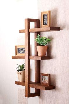 Bathroom Wall Shelves, Home Decor Shelves, Wooden Wall Shelves, Floating Wall Shelves, Wall Shelves Design, Rustic Shelves, Wooden Walls, Wood Shelf, Shelf Wall