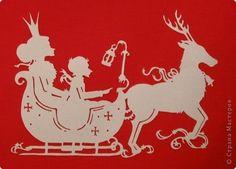 Картина панно рисунок Новый год Вырезание Снежная королева Бумага фото 2